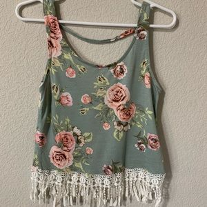 Tops - Floral tank top.